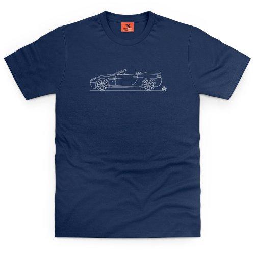 PistonHeads 2005 V8 Vantage Roadster T-Shirt, Herren Dunkelblau