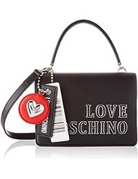 Love Moschino Jc4238pp0bkg0, Bandolera para Mujer, Negro, Normale