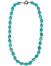 blauen ovalen Türkis Halskette