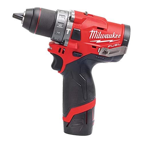 Milwaukee Taladro percutor Milwauke Fuel M12 FPD-202X - 2 baterías 12 V 2.0 Ah - 1 cargador C12C 4933459802...