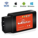 WiFi OBD2 Scanner OBDII Diagnosegerät Wlan Adapter Auto Diagnose Scanner Code Reader Check Engine für IOS Apple iPhone Android Windows