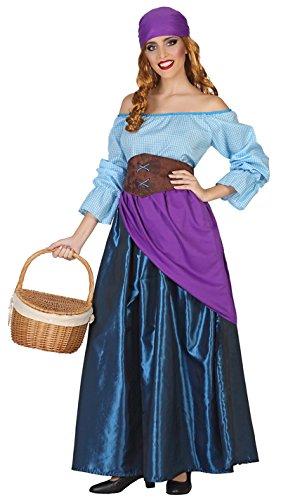 ATOSA 38668 Mittelalterliche Magd Kostüm, Damen, mehrfarbig, M-L (Mittelalterliche Magd Kostüm)