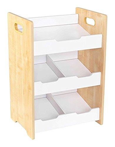 KidKraft 15766 Etagère inclinée en bois, chambre enfant, meuble de rangement