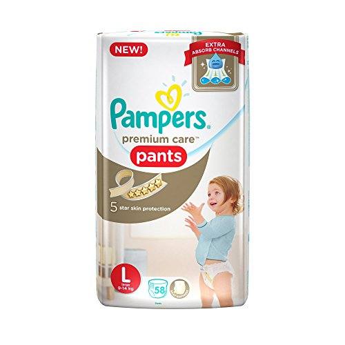 Pampers New Premium Care Large Size Diaper Pants (58 Count)