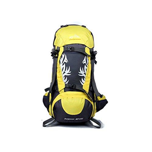 Flamme Outdoor-Camping-Rucksack Bergsteigen Tasche wasserdicht Reiten Profi-Paket Gelb