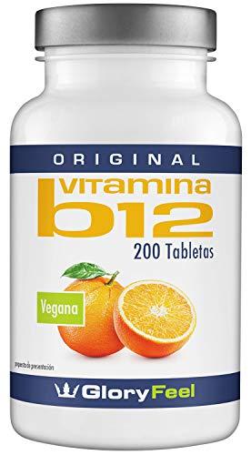 Vitamina B12 Sublingual - 200 Comprimidos de vitamina b12 con 1000 mcg - Vitamina B12 - Vitaminas B12 Meticobalamina - B12 - B12 Vitamina de GloryFeel