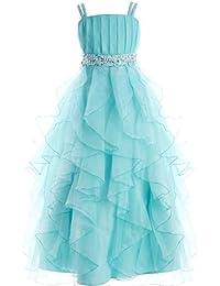 Fashion Plaza Mädchen Party Kleid Organza Blumenmädchenkleid K0044