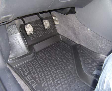 SIXTOL 4-Teiliges Auto Fußmatten Set für den Opel Astra K Hatchback -Passgenaue 3D Gummimatten mit Befestigungslöchern für perfekten Halt -Allwettertauglich und wasserdich