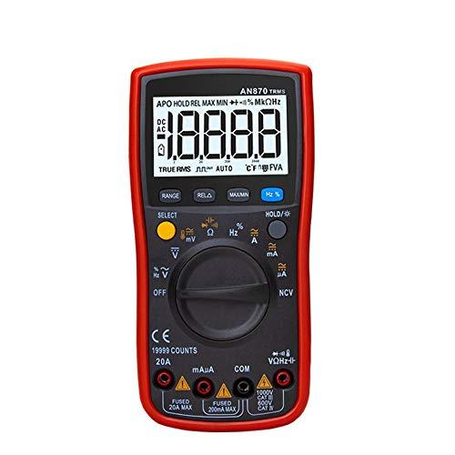 Elektrischer Multimeter Digitalmultimeter 19999 Zählt True Rms Multimeter Transistortester Voltmeter Professionelles Kapazitätsmessgerät 870 JFCUICAN