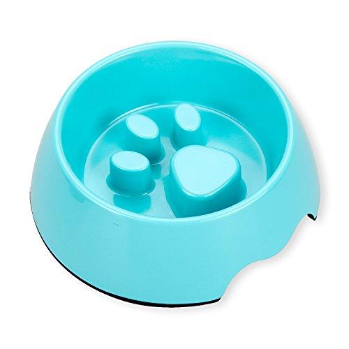 Payxuan Anti-schling Hundenapf Langsame Napf für kleiner Hund und Katze,Blau