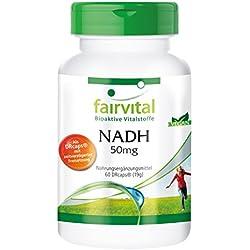 NADH 50mg - für 2 Monate - VEGAN - HOCHDOSIERT - 60 Kapseln - zeitverzögert in DRCaps®