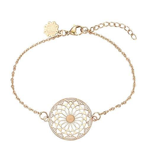 Tara Armband Mandala aus antiallergenem Edelstahl