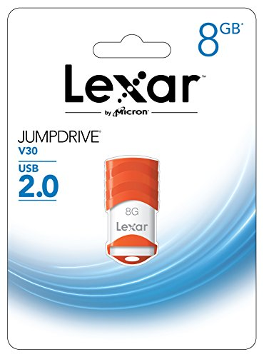 Lexar JumpDrive V30 USB 2.0 8GB Pen Drive (White & Orange)