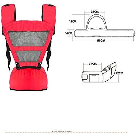 Portador de la honda del bebé ergonomía Ligero Cintura Cadera Taburetes multifuncional frontal de la mochila Mochila los niños asiento infantil de la luz con la ayuda lumbar Por Webeauty
