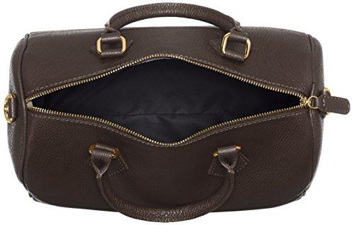CTM Bag Handtaschen, Taschen Schulranzen, 30x23x18cm, 100% Made in Italy Braun (Marrone Scuro)