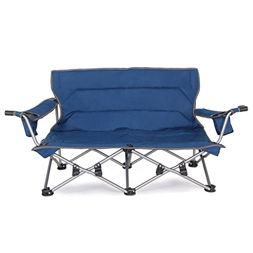 Anna Kletterstuhl Outdoor Klappstuhl Rückenlehne Double Chair Liebhaber Angeln Stuhl Haushalt Tragbare Stuhl Feld Camping Grill Stuhl (Double-camping-stuhl)