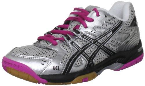 Asics  Gel Rocket W,  Damen Hallenschuhe , Silber - Silver/Black/Pink - Größe: 40 2/3 (Asics Indoor Schuhe Court)