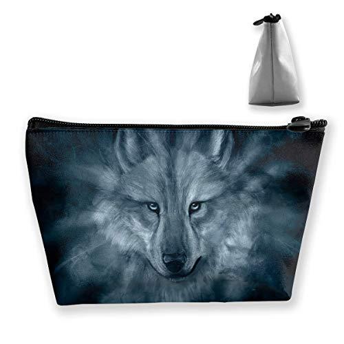 Trapez Reise Make-up Taschen Kulturbeutel Tragbare Stiftetui Fall Wolf Darkness Bag (Caboodles Große Make-up Fall)