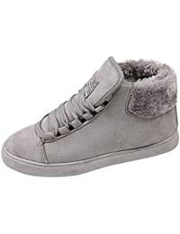 SamMoSon Botas Mujer Nieve Polar Forradas Goretex Y Agua,Planos con Zapatos De Mujer Calzado