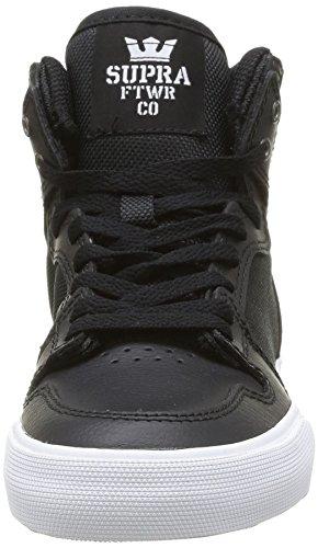 Supra Vaider, Jungen High-Top Sneaker Schwarz (Black/White)