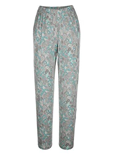 Damen Schlafanzug mit platziertem Druckmotiv by Harmony mint/grau/ecru