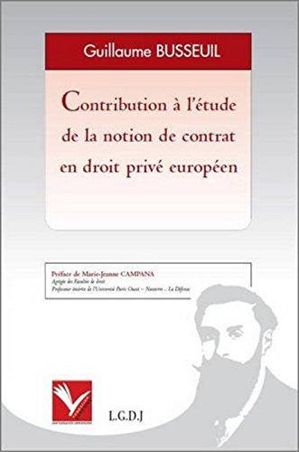 Contribution à l'étude de la notion de contrat en