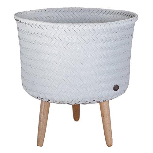 Handed by - Up Mid Round basket - Pflanzkorb - Korb auf Füßen - grau Ø 34 Höhe gesamt: 39 cm