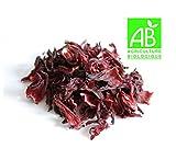Fleurs Séchées d'Hibiscus Bio (200 GR) - Bissap, Karkadé - Conditionnements disponibles 50g ou 100g ou 200g ou 300g | (200g)
