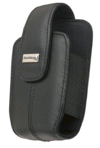 OEM BlackBerry Curve 8300/8310/8320/8330/Lammfell, Leder-Holster mit Gürtelclip-Schwarz Blackberry Curve 8330 Holster