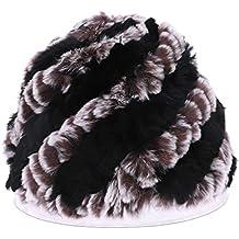 GROOMY Sombreros de Invierno rusos para Las Mujeres señoras de Piel de  Conejo Gorros Grandes de 7f73a794e51