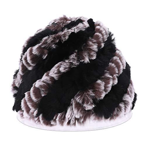 GROOMY Sombreros de Invierno rusos para Las Mujeres señoras de Piel de  Conejo Gorros Grandes de 0a1f9638835