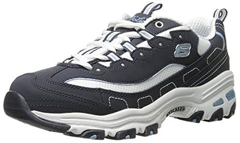 Skechers D'lites Biggest Fan, Sneakers basses femme, Azul (Nvw), 39