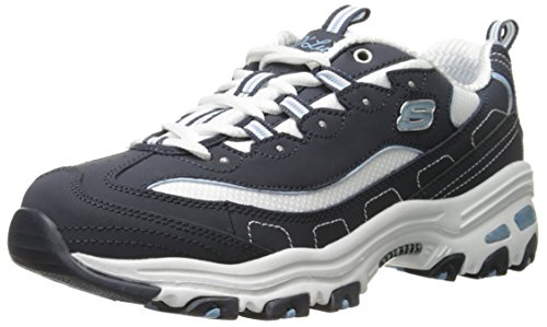 Skechers Damen D'lites Biggest Fan Sneaker, Azul (Nvw), 38 EU