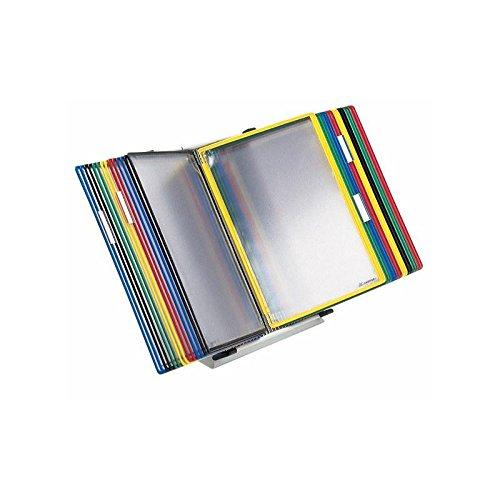 Tischständer A4 grau aus Metall mit 40 Sichttafeln A4 grau