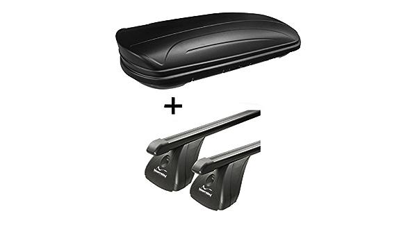 Dachbox Vdpmaa320 320ltr Abschließbar Schwarz Matt Stahl Dachträger Aurilis Original Kompatibel Mit Opel Astra J 3 5türer 2009 2015 Auto