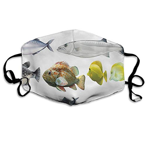 Masken, Masken für Erwachsene, Type of Pacific Fish with Mackerel Salmon Anti-Dust Cotton Mask,Unisex Face Mouth Mask for Kids Teens Men Women