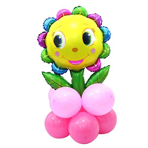n Luftballon DIY Deko Ballonsäule für Valentinstag, Jubiläum, Hochzeit, Verlobung - Rose Rot, 60 x 90 cm ()