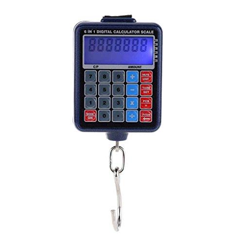 Pigup LCD-Hintergrundbeleuchtung Elektronische Waagen Mini Digital hängende Gepäck-Gewicht-Skala Rechner 50kg / 10g Gewicht