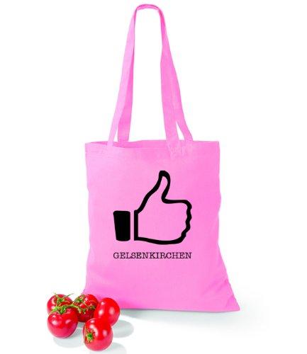 Borsa In Cotone Stile Arte Mi Piace Gelsenkirchen Classic Pink