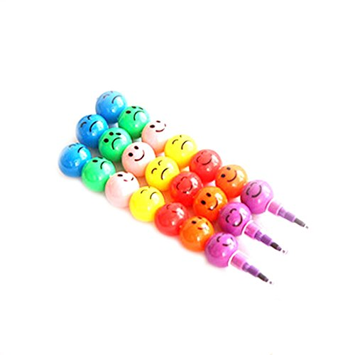 Creative 7Farben Crayon niedliche Smiley Geschenk für Kinder