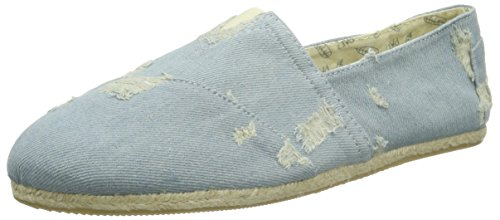 PaezOriginal Raw Scratched Denim - Espadrillas Unisex - Adulto , Blu (Blau (Denim 0001)), 43