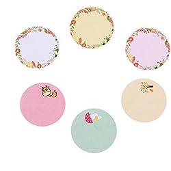 moinkerin 4 fogli Adesivi di carta, Einmachetiketten, Etichette per uso domestico, Etichette Congelatore, Etichette Universal, Etichette colorate, per DIY Card-Fare