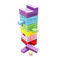 Lewo Klassische 48-Stücke Bausteine Blöcke Stacking Spielzeug Spiele Stapelspiele für Kinder