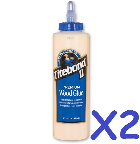 2x-titebond-ii-16oz-473ml-weatherproof-premium-woodworking-wood-glue
