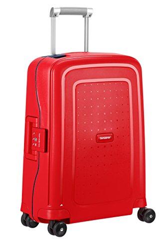 SAMSONITE S'Cure - Spinner 55/20 Bagage cabine, 55 cm, 34 liters, (Capri Rouge/navy Bleu)