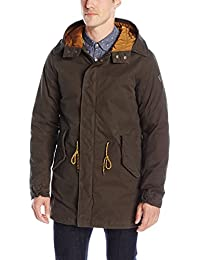 Scotch & Soda Herren Jacke Classic Long Parka with Teddy Lining
