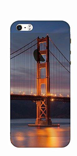 MPPK-Hamburg ® Apple iPhone ® 5 / 5S / SE 4 Zoll Schutz Hülle - Case mit wunderschönem Motiv – Durchsichtig / transparent - Golden Gate