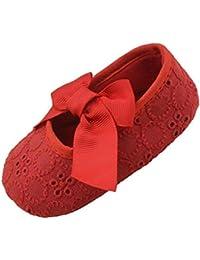 Zapatos para caminar recién nacidos Niñas lactantes Algodón Cinta Bowknot Fondo suave Flor Prewalker Cuna Zapatos By LMMVP