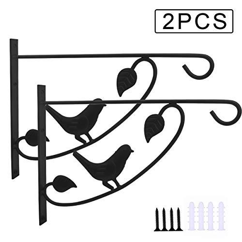 CS COSDDI 2 Stücke Hänge-Klammern für Pflanzen Pflanzenhalterung Blumenampelhalter Eisen Wandhaken Blumenampel Wandhalter Haken,strapazierfähiger Pflanzenhaken -