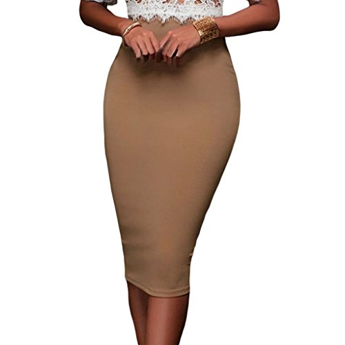 monroe-s-womens-stretchy-elastic-zipped-mid-calf-bodycon-pencil-skirt